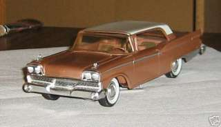1959 Ford Galaxie 2dr Ht, AMT, Promo, 1/25 scale, plastic and metal