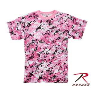 Rothco Mens Pink Digital Camo Tee Shirt
