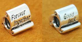 Silver Bead 4 European Bracelet FOREVER TOGETHER / GOOD LUCK CHARM