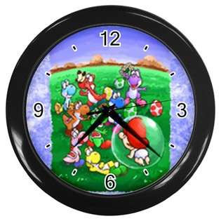 Clock of Super Mario Bros. Yoshi Family with Baby Mario