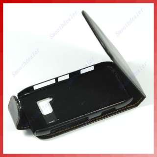 Leather Case Cover Skin Flip Pouch For Nokia N8 Black
