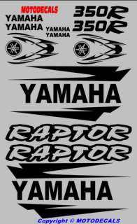 Sticker Decal Graphic Kit for Raptor 350 Fender warrior in BLACK