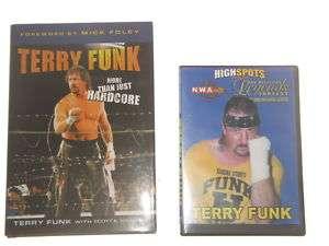 Terry Funk NWA Fanfest Q&A DVD + Book WWF WCW WWE ECW