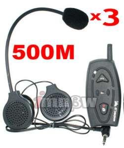 Motorcycle Helmet Bluetooth Headset Intercom 500M