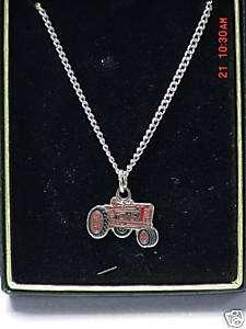 IH International Harvester tractor necklace, NIB