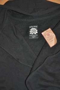 New Womens LUCKY BRAND Hooded Jingo Cardigan Sweater Jacket BLACK size