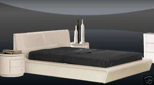 MODERN SYMPHONY BED Contemporary WHITE King Queen SIZE
