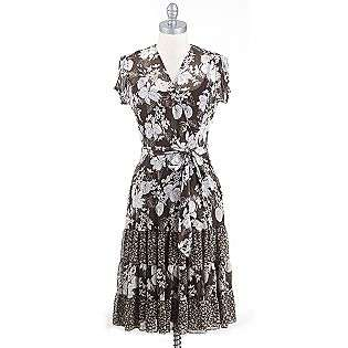 Short Sleeve Wrap Dress Twinprint  MSK Clothing Womens Dresses
