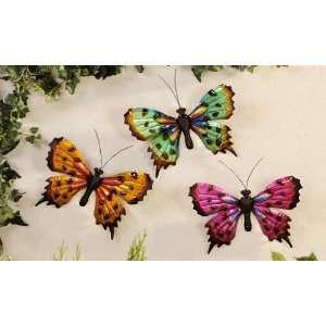 Wall Art Decor Butterfly Wall Décor Set of 3 Size of Each 9.8x1.2x6.8