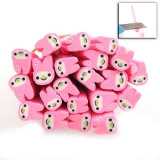 50x Pink Rabbit Fimo Polymer Clay Cane Nail Art 250031