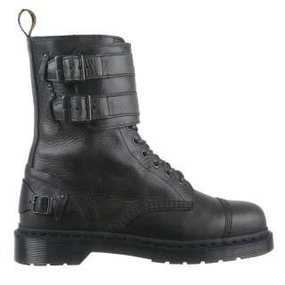 Dr Martens Mens Boots Varden Water Resistant Black Leather Biker Boots