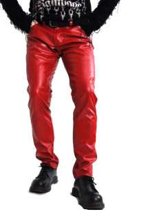 TRIPP NYC GOTH VEGI LEATHER VINYL JEAN PUNK EMO PANTS