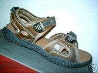 Black Open Toe Casual Sandals Shoes Velcro Strap Logan 4 M NEW