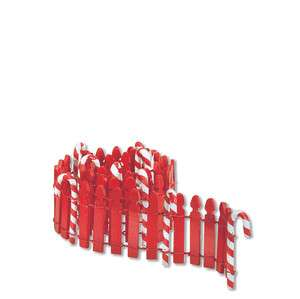 Dept 56 Lot of 2 Candy Cane Fence North Pole Christmas Village