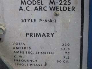MILLER M 225 ARC WELDER 225A