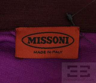 Missoni Purple & Brown Wool Long Sleeve Belted Dress Size 42