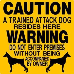 DOBERMAN ALUMINUM GUARD DOG SIGN 2664 Everything Else