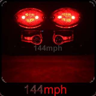 Chrome Motorcycle LED Tail/Turn/Plate ALL IN ONE Light