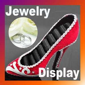 High heel Shoe Ring Jewelry Display Holder Stand Rack