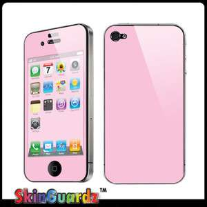 Pink Vinyl Case Decal Skin Cover Apple iPhone 4 / 4s / Verizon / AT&T