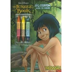 The Jungle Book Big Crayon Book to Color: Mowgli with