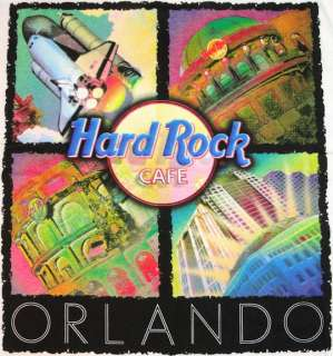 Hard Rock Cafe ORLANDO HEAVY Tee T SHIRT 4 Icons Medium