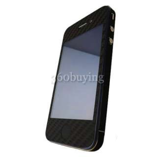 5x Carbon Fiber Skin Sticker Cover Full Body Protector For Iphone 4 4G