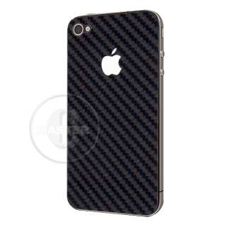 CARBON FIBER FRONT & BACK FACE OFF PROTECTION STICKER FOR iPHONE 4