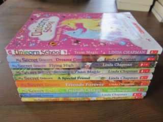 My Secret Unicorn Books Series Lot Set Linda Chapman  P1