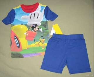 Disney MICKEY MOUSE CLUBHOUSE Shrt Pajamas 3 3T NWT