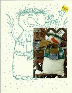 The Friend SNOWMAN Sewing Pattern Felt Sisters & Best Friends