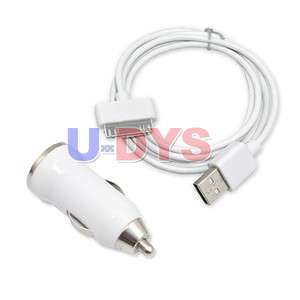 USB Car Charger Adapter + Cable For iPod iPhone 3GS/4