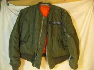AIR FORCE USAF MILITARY MANS INTERMEDIATE FLYERS MA 1 JACKET SIZE