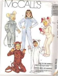 McCalls Kids Halloween Costume Sewing Pattern Uncut Boys Girls Child