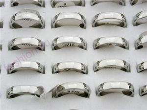 Wholesale lot 50 Stainless Steel Polish Mirror Ring 1