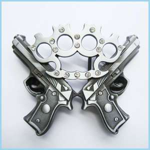 NEW RHINESTONES Punch Gun Mens Belt Buckle GU 014