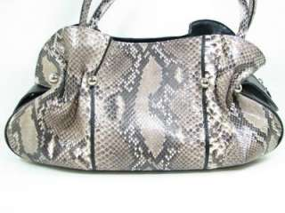 Genuine Python Snake Leather Shoulder Handbag Purse |