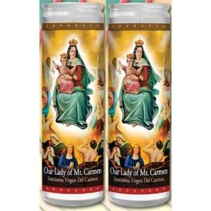 Hand Prayer Candles 2 Veladoras De Nuestra Senora Del Carmen Home