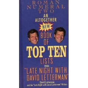 Roman Numeral Two an Altogether New Book of Top Ten Lists
