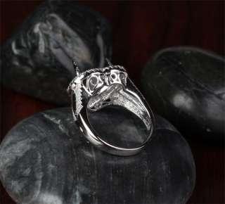 11mm HEART Shaped Cut .75CT DIAMOND 14K WHITE GOLD Engagement SEMI
