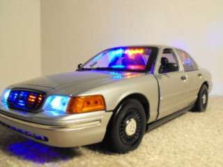 Undercover Silver FCV Lights Custom Police Car Slicktop Model Diecast
