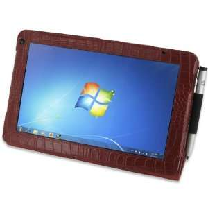 Crocodile Pattern Leather Case for HP Slate 2 Tablet PC Electronics