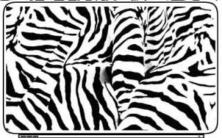 Animal Horse Zebra Print Design Laptop or Netbook Sticker Skin Decal