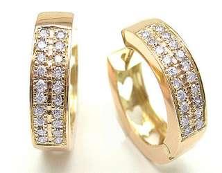 60CTW 14K Rose Gold Huggies/hoop Diamond Earrings