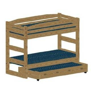 Bunk Bed Woodworking Plan Stackable Twin Extra Long (XL over XL) Bunk