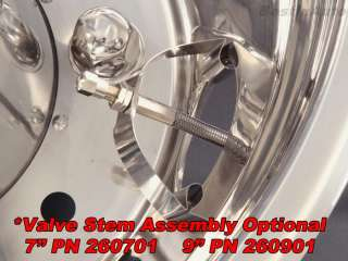 19.5 Dually Stainless Simulator Wheel Liner 8 Lug 5 hand holes w/M14 x