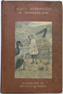 1908 ALICE IN WONDERLAND Antique LEWIS CARROLL Alices Adventures Book