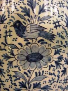 Antique 13 Hand Painted Blue & White Baluster Vase DELFT Signed