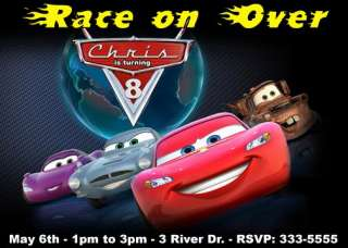 DISNEY CARS BIRTHDAY PARTY INVITATIONS & PARTY FAVORS