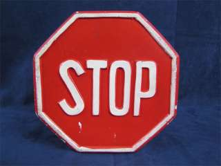 Cute Vintage Lego STOP Sign Bank Red White Clay